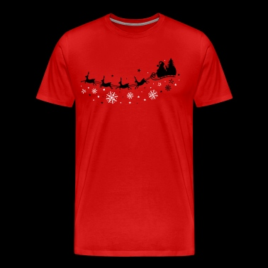 Santa Claus with sleigh and reindeer - Men's Premium T-Shirt