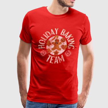 Holiday Baking Team Christmas Distressed T-Shirt - Men's Premium T-Shirt