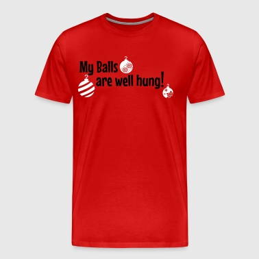 My balls are well hung! - Men's Premium T-Shirt