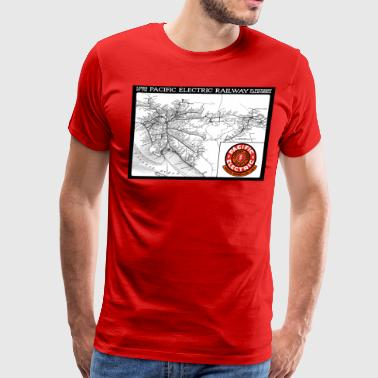 Historic Map Of Pacific Electric Railway - Men's Premium T-Shirt