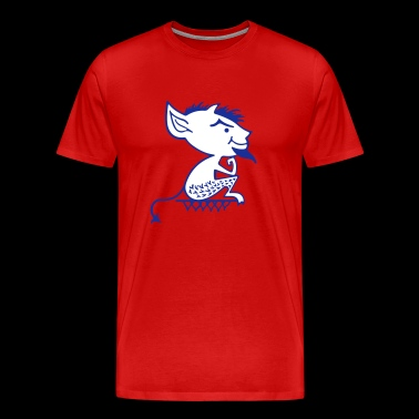 Throwback Blue Demons - Men's Premium T-Shirt