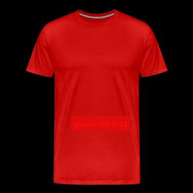 Emoto Hidden Messages Powerful (Red) - Men's Premium T-Shirt