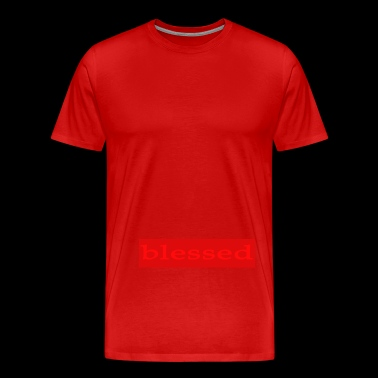 Emoto Hidden Messages Blessed(Red) - Men's Premium T-Shirt