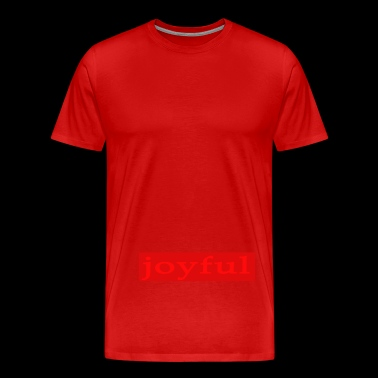 Emoto Hidden Messages Joyful (Red) - Men's Premium T-Shirt