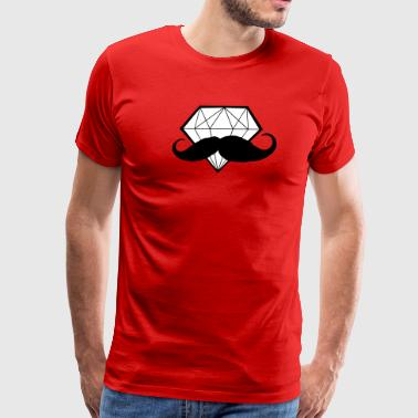 Diamond with Moustache - Hipster - Swag - Men's Premium T-Shirt