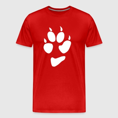 wolf dog paw print - Men's Premium T-Shirt