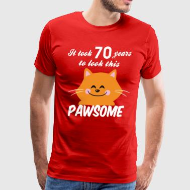 It took 70 years to look this pawsome - Men's Premium T-Shirt