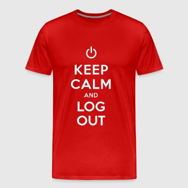 Keep Calm and Log Out - Men's Premium T-Shirt