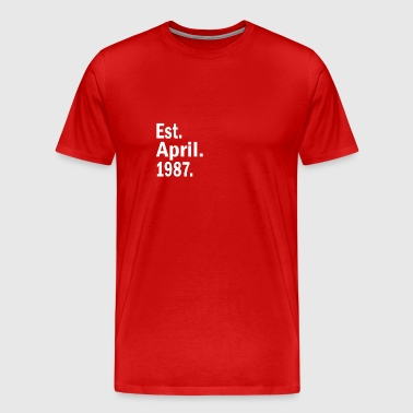 Est April 1987 - Men's Premium T-Shirt