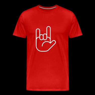 hand of sign 21 gift peace love - Men's Premium T-Shirt