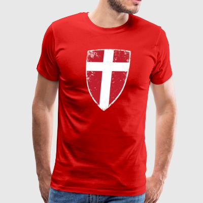 Denmark Flag - Men's Premium T-Shirt