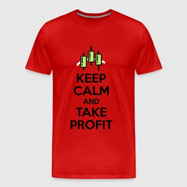 Keep calm and take profit - Men's Premium T-Shirt