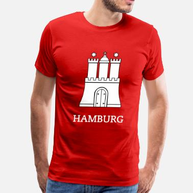 Hamburg Hamburg / Crest of Hamburg Germany - Men's Premium T-Shirt