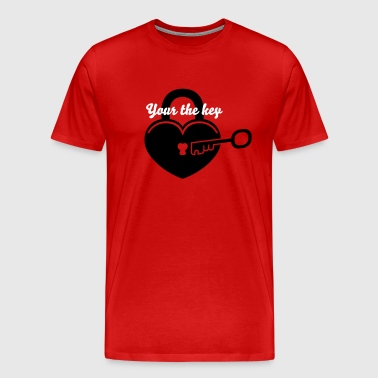Lock to my heart 4 - Men's Premium T-Shirt