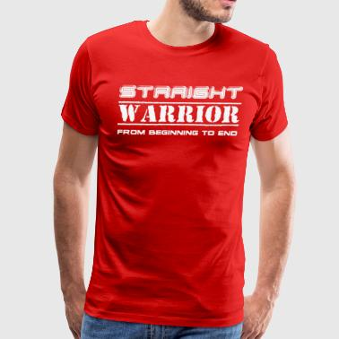 Straight Warrior design - Men's Premium T-Shirt