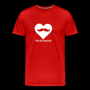 Heart Moustache - Men's Premium T-Shirt