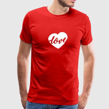 Maternity Love Script Heart Valentines Day - Men's Premium T-Shirt