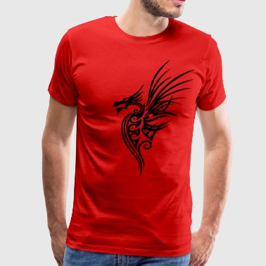 Fantasy dragon with big wings. - Men's Premium T-Shirt