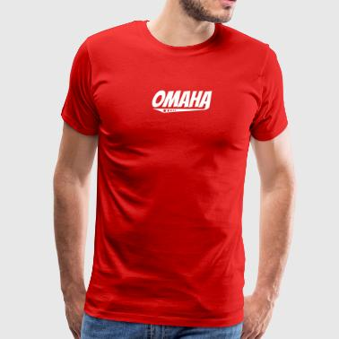 Omaha Retro Comic Book Style Logo - Men's Premium T-Shirt