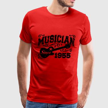 02 musician since 1955 - Men's Premium T-Shirt