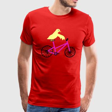 Duck On a Pink Bicycle - Men's Premium T-Shirt