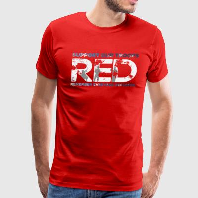 RED - Support Our Troops - Men's Premium T-Shirt
