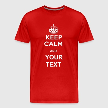 crown_keep_calm - Men's Premium T-Shirt