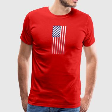 Vintage US Flag Billard Balls + Cues Pool Billard - Men's Premium T-Shirt