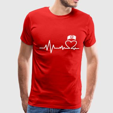 Nurse Heartbeat - Men's Premium T-Shirt