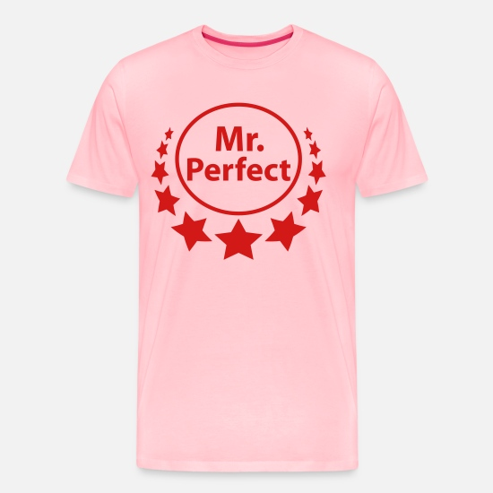 Mr And Mrs T-Shirts - mr_perfect - Men's Premium T-Shirt pink