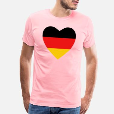 Germany Flag Germany Flag Heart - Men's Premium T-Shirt