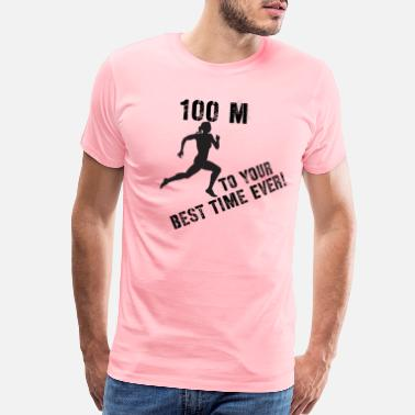 Meeting Women's 100m to your best time ever! - Men's Premium T-Shirt