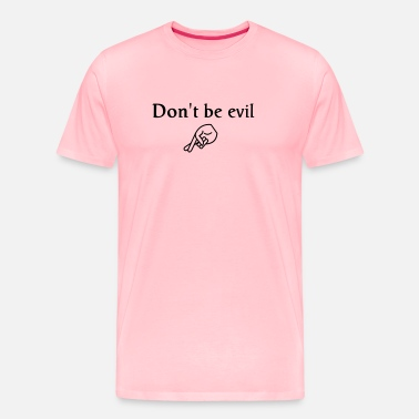 Crossed don't be evil - Men's Premium T-Shirt
