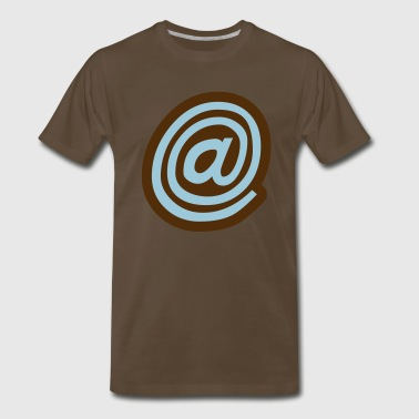 cool curly at symbol in a circle - Men's Premium T-Shirt