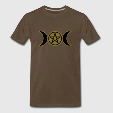 Moon Wicca Pentacle /Pentagram - Wicca triple moon / Amulet - Men's Premium T-Shirt