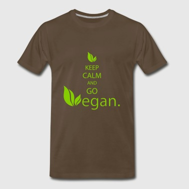 keep calm vegan - Men's Premium T-Shirt
