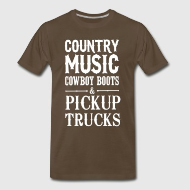 Country music cowboy boots and pickup trucks - Men's Premium T-Shirt