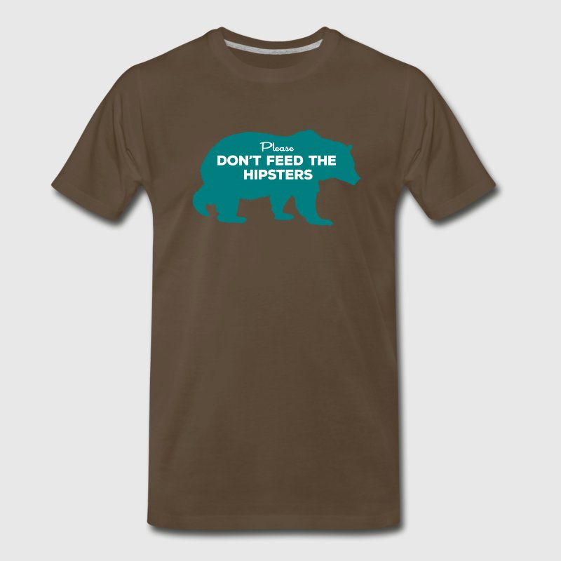 don't feed the hipsters - Men's Premium T-Shirt