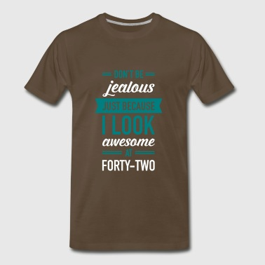 Awesome At Forty-Two - Men's Premium T-Shirt