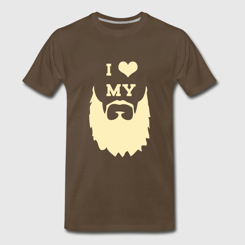 I Love My Beard - Men's Premium T-Shirt