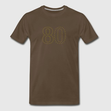 Number 80 dotted number 80 (1c) - Men's Premium T-Shirt