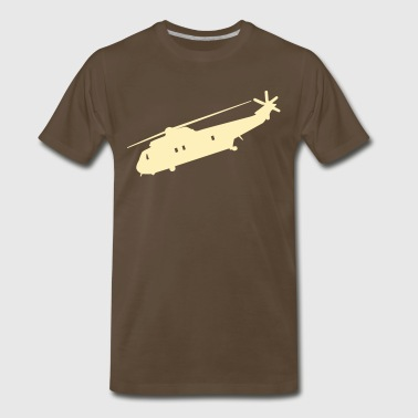 Cool Military helicopter Flex Graphic - Men's Premium T-Shirt