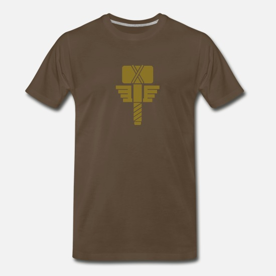 Thor T-Shirts - Hammer of Thor - Men's Premium T-Shirt noble brown