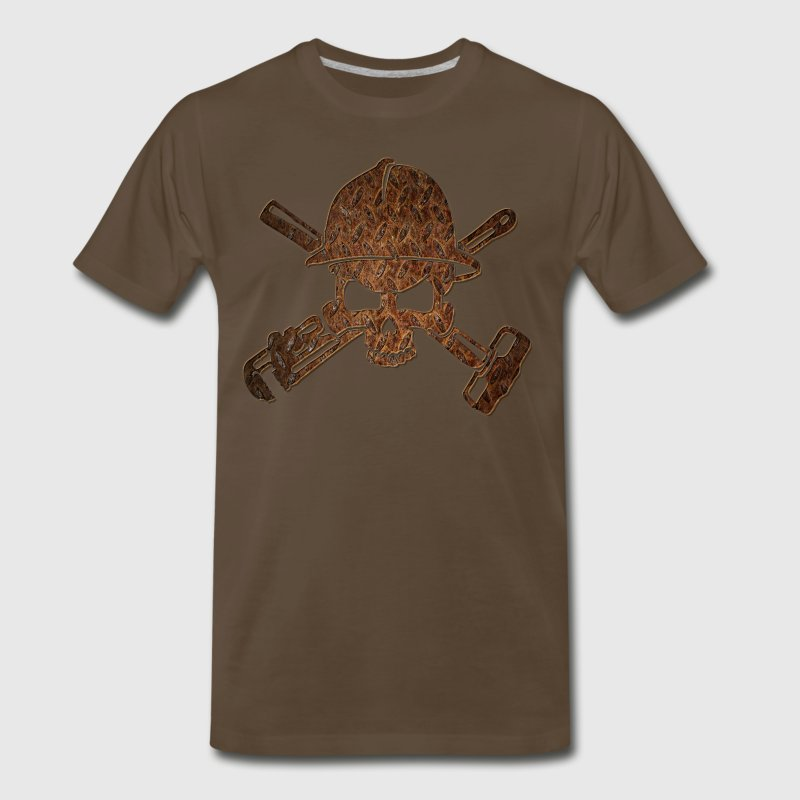 Rusty Oilfield Skull - Men's Premium T-Shirt