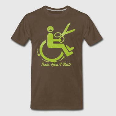 Wheel Chair and Scissors - Men's Premium T-Shirt