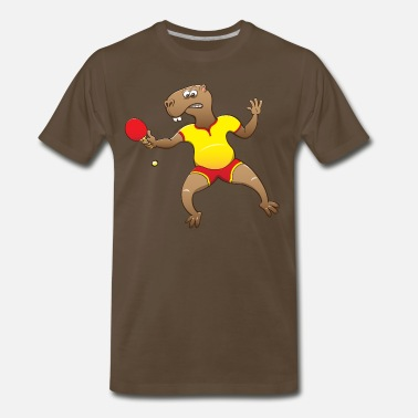 Capybara Capybara Playing Table Tennis - Men's Premium T-Shirt
