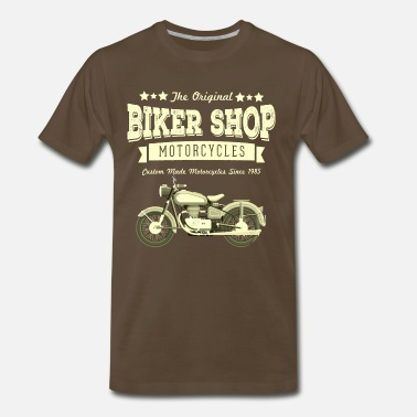Bike Shop Vintage Bike Shop - Men's Premium T-Shirt