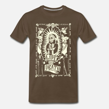 13b27aac Mexico Day Of The Dead Life and Dead - Men's Premium T-Shirt