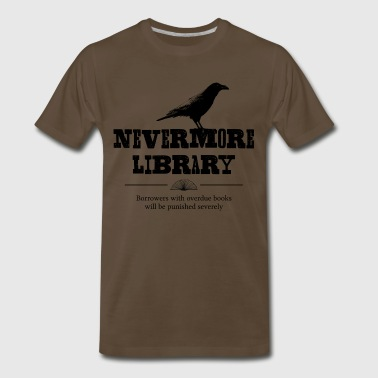 Nevermore Nevermore Library - Men's Premium T-Shirt