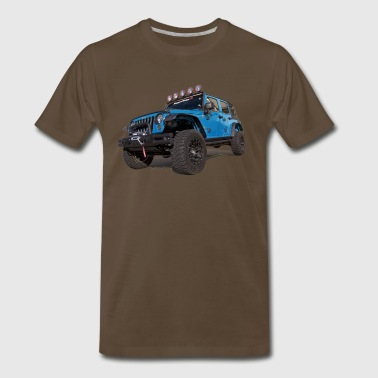 blue Jeep Wrangler - Men's Premium T-Shirt